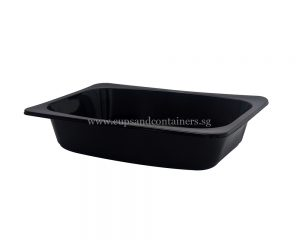 17 Oz / 500 ml Black Rectangle Container